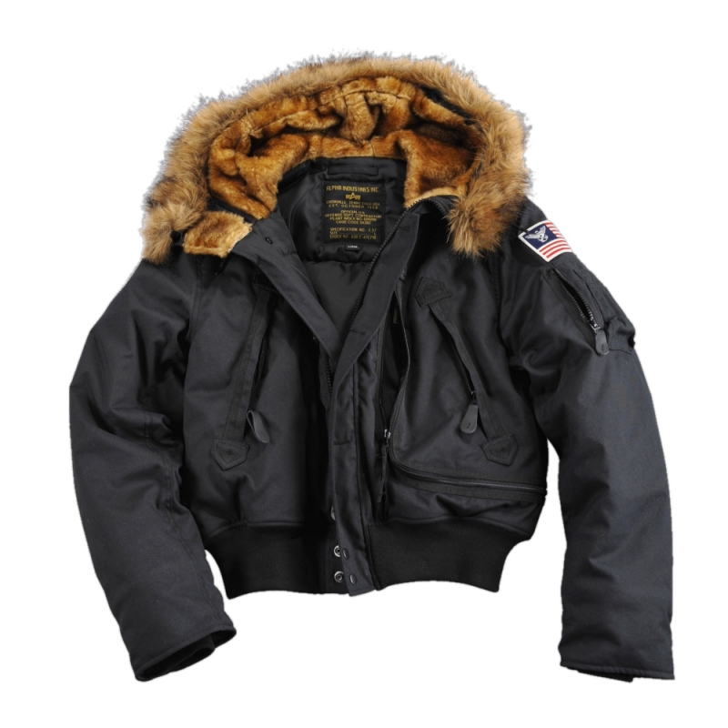 alpha industries polar sv winterjacke schwarz 199 90. Black Bedroom Furniture Sets. Home Design Ideas