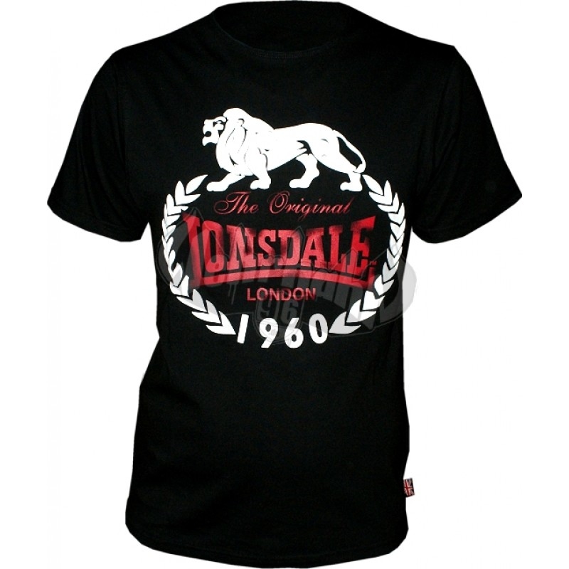 lonsdale slim fit t shirt 1960 original schwarz 24 90. Black Bedroom Furniture Sets. Home Design Ideas