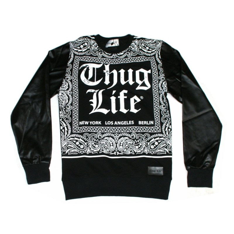 thug life paisley bandana sweatshirt 59 90. Black Bedroom Furniture Sets. Home Design Ideas