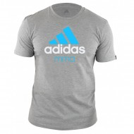 Adidas Community MMA T-Shirt grey/solarblue