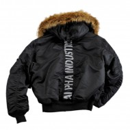 Alpha Industries 45P Hooded Custom Jacke black/reflective