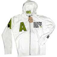 Alpha Industries A Zip Hoodie weiss