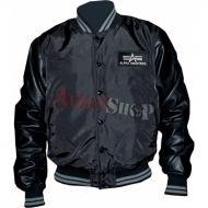 Alpha Industries Air Base Collegejacke schwarz/schwarz