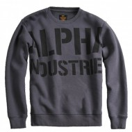 Alpha Industries - All Over Sweater greyblack