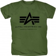 Alpha Industries Basic Logo Shirt Oliv