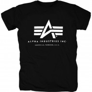 Alpha Industries Basic Logo Shirt Schwarz