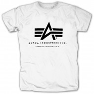 Alpha Industries Basic Logo Shirt Weiß