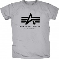 Alpha Industries Basic Logo Shirt grau