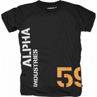 Alpha Industries - Basic Print 12 T-Shirt schwarz/orange