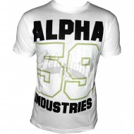 Alpha Industries Basic Shirt Print 11 weiss
