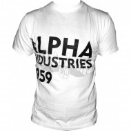 Alpha Industries Basic Shirt Print 13 weiss
