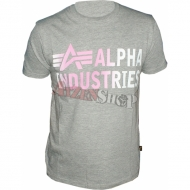 Alpha Industries Basic Shirt Print 3 grau
