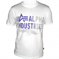 Alpha Industries Basic Shirt Print 3 weiss
