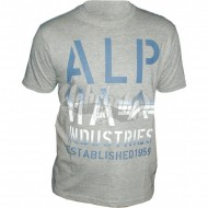Alpha Industries Basic Shirt Print 4 grau