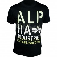 Alpha Industries Basic Shirt Print 4 schwarz/gr�n
