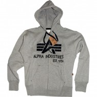 Alpha Industries Big A Classic Zip Hoodie grau