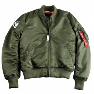 Alpha Industries Bomberjacke MA-1 VF Army (mit R�ckenprint) sage green