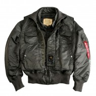 Alpha Industries CWU 45 Bomberjacke X-Force rep. grey