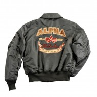 Alpha Industries CWU Custom Jacke rep. grey