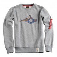 Alpha Industries Crewneck Lying Babe grey heather