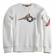 Alpha Industries Crewneck Lying Babe off white