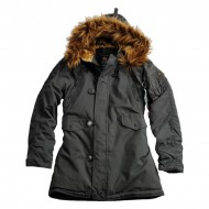 Alpha Industries Explorer Kapuzenparka Woman (Rep. Grey)