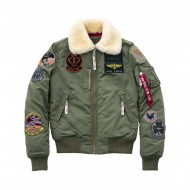 Alpha Industries Frauen Bomberjacke Injector III Patch...