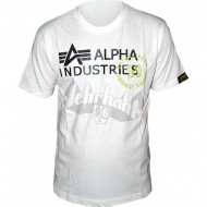 Alpha Industries Gum Print T-Shirt weiß