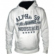 Alpha Industries Hoodie Air Squadron weiss