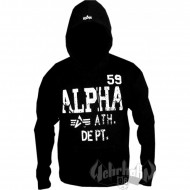 Alpha Industries Hoodie Ath. Dept. black