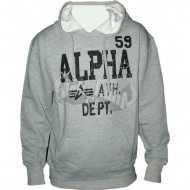 Alpha Industries Hoodie Ath. Dept. grey