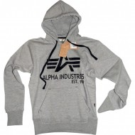 Alpha Industries Hoodie Big A Classic grau