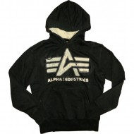 Alpha Industries Hoodie Big A Vintage schwarz