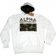 Alpha Industries Hoodie Camouflage Print White