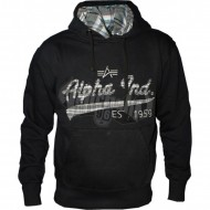Alpha Industries Hoodie Ckd Apllikation schwarz