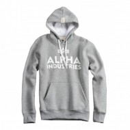 Alpha Industries Hoodie Foam Print grey heather