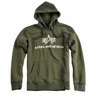 Alpha Industries Hoodie Logo Vintage dark green (AUSVERKAUFT)