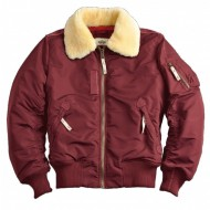 Alpha Industries - Injector III Fliegerjacke burgundy
