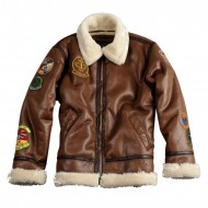 Alpha Industries Jacke B3 FL Patch Brown