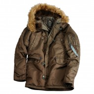 Alpha Industries Kapuzenparka N3B VF 59 Woman (Brown Overdyed)