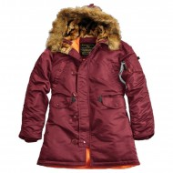 Alpha Industries Kapuzenparka N3B VF 59 Woman (Burgundy)