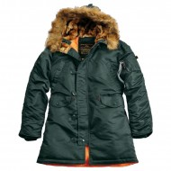 Alpha Industries Kapuzenparka N3B VF 59 Woman (Dark Petrol)