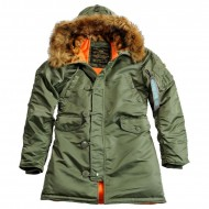Alpha Industries Kapuzenparka N3B VF 59 Woman (Sage Green)