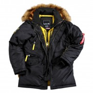 Alpha Industries Kapuzenparka PPS N3B Black
