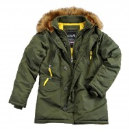 Alpha Industries Kapuzenparka PPS N3B dark green