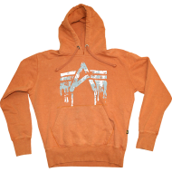 Alpha Industries Hoodie Liquid A burned Orange