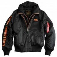 Alpha Industries - MA-1 D-Tec SE Bomberjacke schwarz/orange