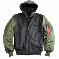 Alpha Industries - MA-1 D-Tec Wool Fliegerjacke sage-green