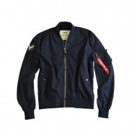 Alpha Industries - MA-1 Ground Crew Bomberjacke rep. blue