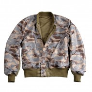 Alpha Industries MA-1 Reversible Camo Jacke Stratos